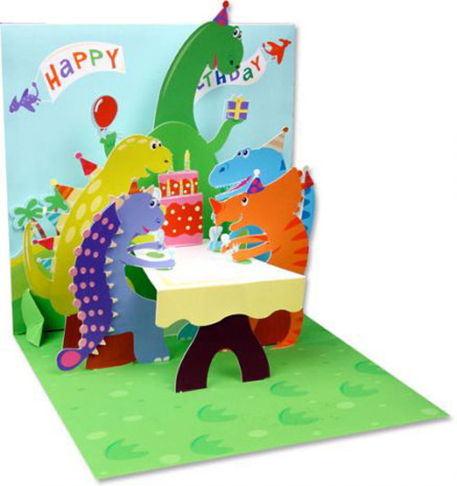 Dinosaurs (1 card/1 envelope) - Birthday Card  INSIDE: Happy Birthday