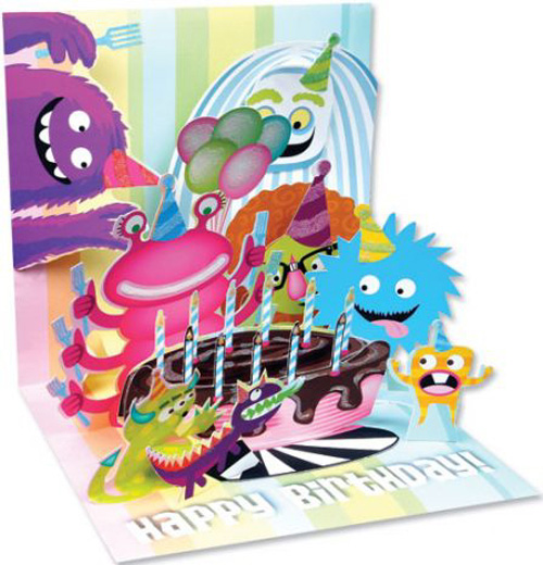Birthday Monsters Pop Up Card