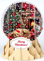 Holiday Room Snowglobe (1 card/1 envelope) Up With Paper Pop-Up Christmas Card