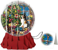 Christmas Cats Large Snowglobe (1 card/1 envelope) - Christmas Card
