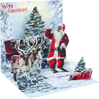 Jolly Santa (1 card/1 envelope) Up With Paper Pop-Up Christmas Card