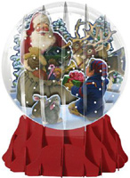 Santa and Helper Large Snowglobe (1 card/1 envelope) Up With Paper Pop-Up Christmas Card