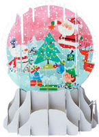 Tree Trimming Party Large Snowglobe (1 card/1 envelope) - Christmas Card