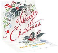 Merry Christmas (1 gift card holder/1 envelope) - Christmas Gift Card Holder  INSIDE: Merry Christmas