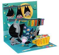 Candy Bats (1 card/1 envelope) Up With Paper Pop-Up Halloween Card