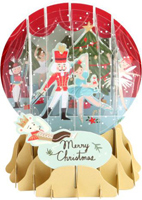 Nutcracker Snow Globe Pop Up (1 card/1 envelope) Up With Paper Christmas Card